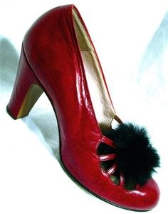 innovative design 077fe 24b1b 1930s Meschell Faris Parisian Design Court Shoes - Mlle Vintage Sko,  Vintage Kjoler,