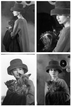 Audrey Hepburn love this shot of her with her dog.