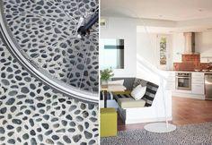 pebble floor http://www.mauriciofuertes.com/es/proyectos/proyecto/1-1/194/INTERIOR/Apartment/Casa-Estilismo