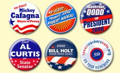 Political and Campaign Buttons