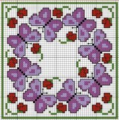 Regelingen klein borduurwerk. / Embroidery / Cross Stitch Schemes
