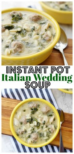 Instant Pot Italian Wedding Soup made in the Instant Pot in four minutes! #FarmerstoFamilies #sponsored