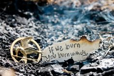 If we burn, you burn with us. -Suzanne Collins | Hunger Games The Mockingjay