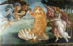 """""""Meet Zarathustra – a fat cat who's very fond of art. His creative owner, Svetlana Petrova, decided to entertain her big ginger feline's interests by adding him to some iconic portraits and timeless masterpieces."""""""