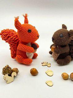 Sirius The Squirrel PDF Amigurumi Free Pattern - Lovelycraft Easy Crochet Shrug, Crochet Hooks, Sirius, Yarn Needle, Slip Stitch, Stitch Markers, Single Crochet, Squirrel, Free Pattern