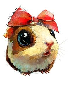 super cute watercolor animals by 雪娃娃童画