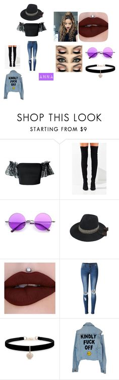 """""""My Concert Outfit"""" by btsannxa ❤ liked on Polyvore featuring Plakinger, Jeffrey Campbell, WithChic and Betsey Johnson"""