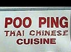 Poo Ping Thai - Funny Signs