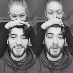 While it's not totally rare to see Gigi Hadid without makeup, her newest photos with boyfriend Zayn Malik show off her natural beauty in new ways. As in, she looks like she's in love and she's seriously glowing—without a highlighter in sight.