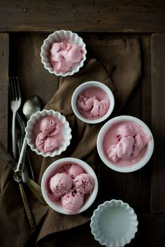 Roasted Strawberries & Buttermilk Ice Cream