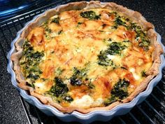 Quick & Easy Spinach Quiche from Food.com:   This is such an easy quiche to prepare!  So simple, yet so good!
