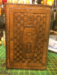 Third degree plate for ritual book cover, made by Dave Adams