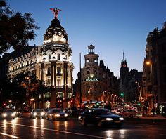 Madrid´s Gran Via is the heart of the city and a great spot to stay when travelling to Madrid, Spain