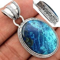 Shattuckite 925 Sterling Silver Pendant Jewelry SKTP77 - JJDesignerJewelry