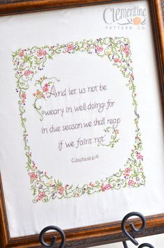 We Shall Reap Sampler - 100% Cotton Embroidery Pattern. $14.00, via Etsy.