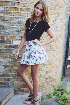 Millie MacKintosh Style Diary Graffic Top Skirt Miss Guided Necklace Accessorize Shoes French Sole