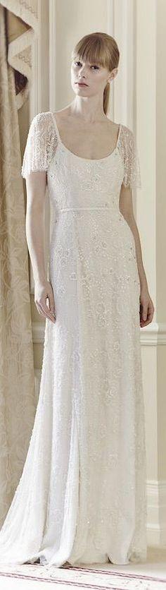 Jenny Packham Bridal Collection 2014 - Freya. Sleeves more like Eden, sweetheart neckline