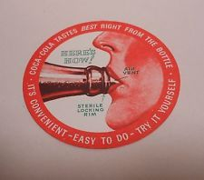 "Vintage Coca Cola 1950's COASTER..""Here's How""..Mint!"