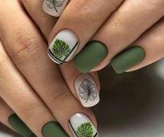 Pedicure Designs, Pedicure Nail Art, Nail Art Designs, Pedicure Ideas, Hair And Nails, My Nails, Summer Toe Nails, Pretty Nail Art, Green Nails