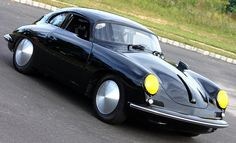 Porsche 356 Outlaw. Chopped roof with Speedster windshield and 2.2 liter 6 cylinder 911 motor and 901 transmission. TSNY.com