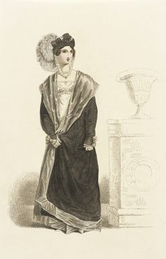 Possibly a half-mourning outfit, 1820 belle assemblee