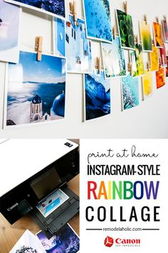 Craft a rainbow collage with your photos, a printer, and some tips from @Remodelaholic #CraftywithCanon