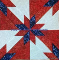 Smilie Mommy Quilts: Most Recent Blocks for IQBS ~ International Quilt Block Swap (Hunter's Star)