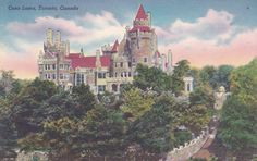 Here is a vintage postcard of Casa Loma in Toronto, Canada. It is unused and in good condition. Toronto Photography, Types Of Photography, Posters Canada, Ontario Cottages, Museum Studies, Toronto Canada, Central America, Travel Posters, Vintage Postcards