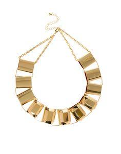 #gold #necklace  $29.70 http://rstyle.me/~uT4B via: http://stylistdiva.blogspot.com/2013/05/metallic-mania-shine-on.html