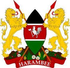 Brasão de armas do Quênia. Coat of arms of Kenya.