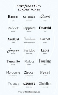 Best Free Luxury Fonts - Fonts - Ideas of Fonts - What if you want to make YOUR brand look high end? Here are some free luxury fonts in a variety of styles serif sans-serif and some high-end scripts. Web Design, Free Font Design, Graphic Design Fonts, Poster Design, Branding Design, Font Free, Logo Fonts Free, Best Free Fonts, Free Modern Fonts