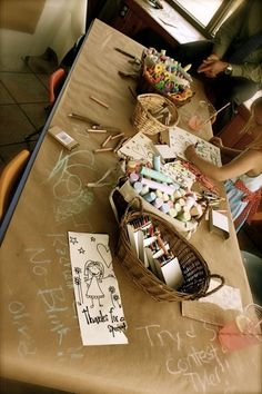 craft table idea for a wedding