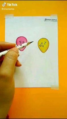 Cute Easy Drawings, Art Drawings Beautiful, Drawings Of Friends, Girly Drawings, Art Drawings For Kids, Art Drawings Sketches Simple, Pencil Art Drawings, Doodle Drawings, Drawing Drawing
