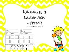 Here are two letter sorting pages to help with visual discrimination/letter recognition for those commonly reversed letters.It is also great for developing fine motor control, by practicing cutting and writing letters.  Check out a similar product in my store:Alphabet Letter Sort A-Z ABC Say it, Write it, Find it