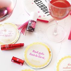 Bad gals finish first. So add a touch of hydrating Benebalm, a dash of Benetint, a sip of red wine, and bend some rules.
