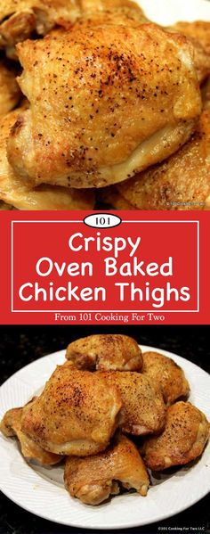 An ultra simple recipe for crispy and moist chicken thighs. Just a quick pat dry, some spices and bake in a high oven will get you great crispy chicken thighs. Welcome to thigh heaven.