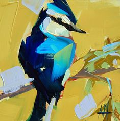 Art painting Thick Brushstrokes Form Plump Songbirds in Oil Paintings by Angela Moulton June 2019 Laura Staugaitis Chickadees, barn swallows, and goldcrest kinglets emerge fr Level 7, Colossal Art, Painting Videos, Love Painting, Brush Strokes, Les Oeuvres, Art Projects, Art Drawings, Portraits