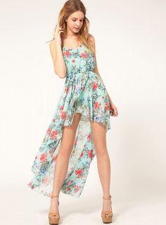 69dd851f8e0 Round Neck Chiffon Dress Stylish Bohemian Style Beach Dress Floral Chiffon