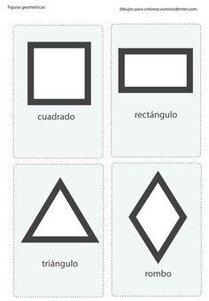 Imprimible: formas geometricas. Printable: geometric forms
