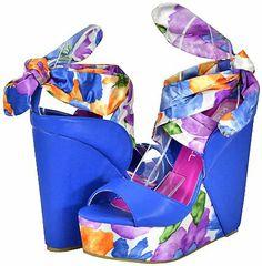 Cool Kiss&Tell Ava-04 Teal Women Wedge Sandals