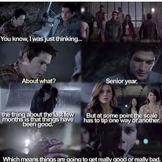 More of what's to come on Teen Wolf season 5 on We Heart It Teen Wolf Mtv, Teen Wolf Funny, Teen Wolf Cast, Tyler Posey, Dylan O'brien, Stydia, Sterek, Teen Wolf Season 5, Teen Wolf Quotes