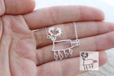 Children's Drawing Necklace Kid's Art Necklace