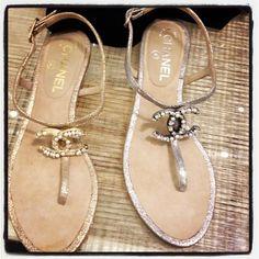 Chanel rhinestone sandals