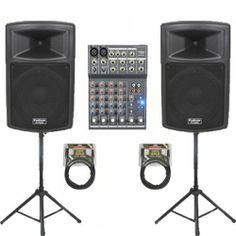 High End Speakers, Sound Stage, Powered Speakers, Dance Studio, Recording Studio, Karaoke, Musical Instruments, Mixer, Bluetooth