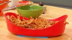 Chicken and Green Bean Casserole - Rachael Ray Casserole Week Recipe Greenbean Casserole Recipe, Casserole Recipes, Pasta Dishes, Food Dishes, Main Dishes, Great Recipes, Favorite Recipes, Dinner Recipes, Rachel Ray Recipes