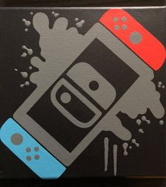Nintendo Switch Video Game Controller Painting, Video Game Art, Hand Painted, Custom Colors,Custom W Video Game Decor, Video Game Rooms, Video Game Art, Art Mural, Wall Art, Game Room Design, Gamer Room, Painting Videos, Game Controller