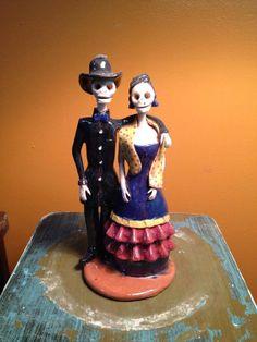 Hand Painted Dias De Los Muertos Catrina Doll by KarolinasAntiques, $58.00