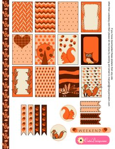 FREE Thanksgiving Stickers for Happy Planner and EC by Cutedaisy