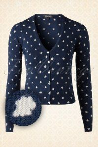 King Louie Milk Navy Blue and White Cardigan 140 39 15538 20150806 0003W1