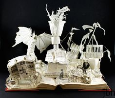 Book Sculpture: Harry Potter and the Goblet of Fire - jamie b. hannigan